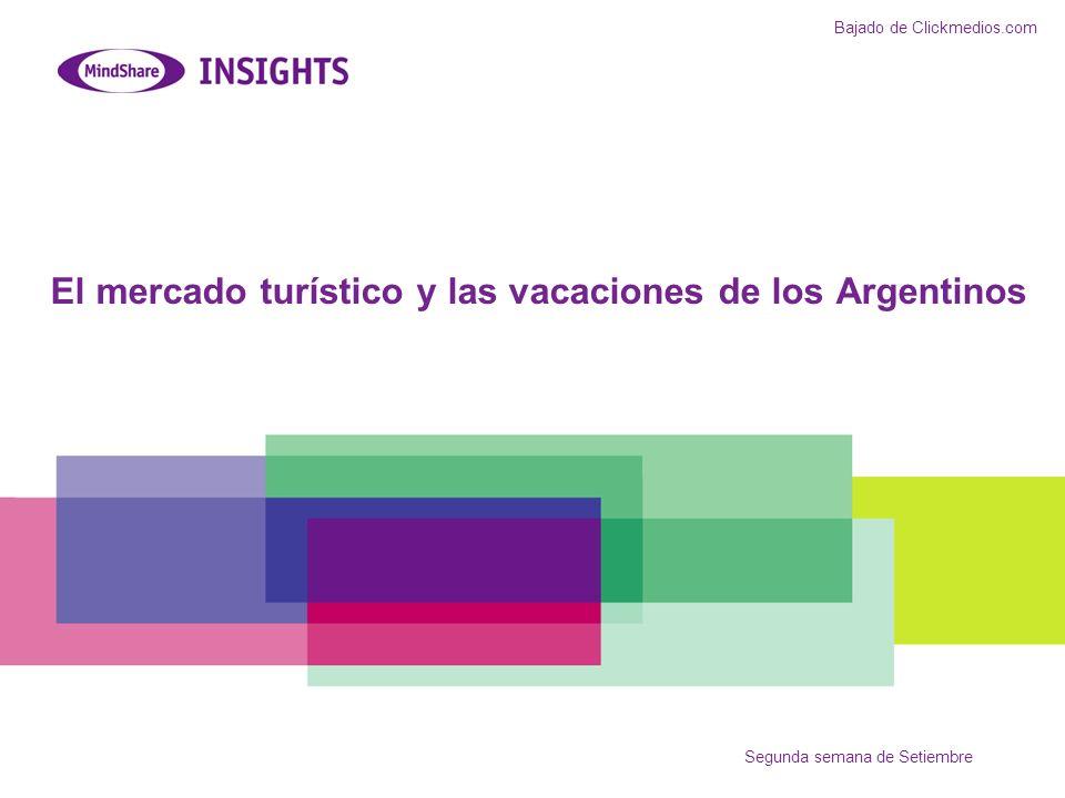 El mercado turístico y las vacaciones de los Argentinos Segunda semana de Setiembre Bajado de Clickmedios.com