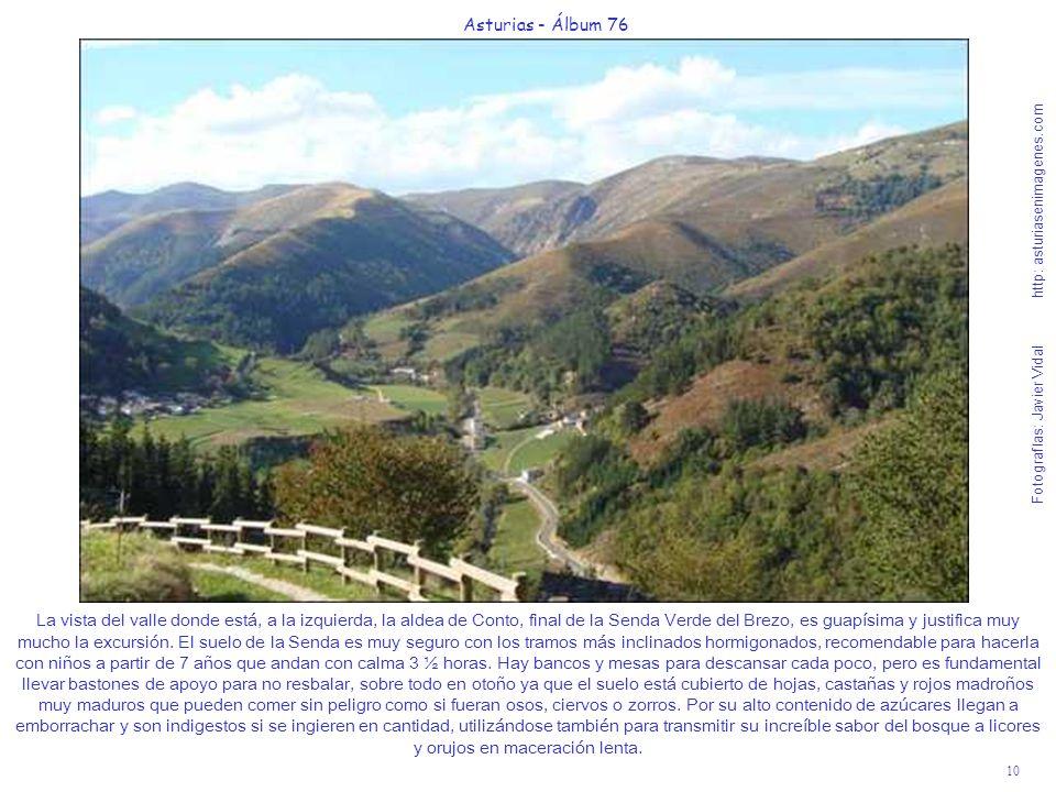 10 Asturias - Álbum 76 Fotografías: Javier Vidal http: asturiasenimagenes.com La vista del valle donde está, a la izquierda, la aldea de Conto, final