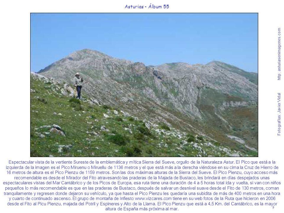9 Asturias - Álbum 55 Fotografías: Javier Vidal http: asturiasenimagenes.com Espectacular vista de la vertiente Sureste de la emblemática y mítica Sie
