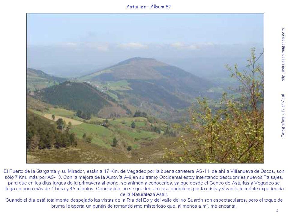 2 Asturias - Álbum 87 Fotografías: Javier Vidal http: asturiasenimagenes.com El Puerto de la Garganta y su Mirador, están a 17 Km. de Vegadeo por la b