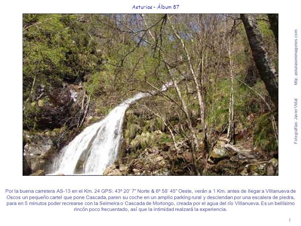 3 Asturias - Álbum 87 Fotografías: Javier Vidal http: asturiasenimagenes.com Por la buena carretera AS-13 en el Km. 24 GPS: 43º 20 7 Norte & 6º 58 45