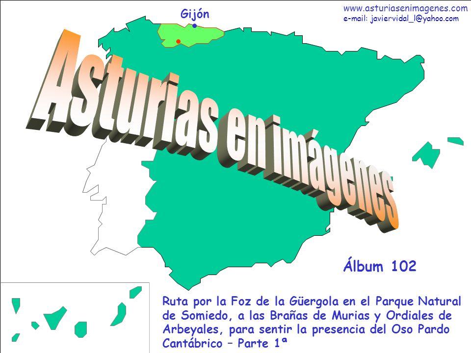1 Asturias - Álbum 102 Gijón Ruta por la Foz de la Güergola en el Parque Natural de Somiedo, a las Brañas de Murias y Ordiales de Arbeyales, para sent