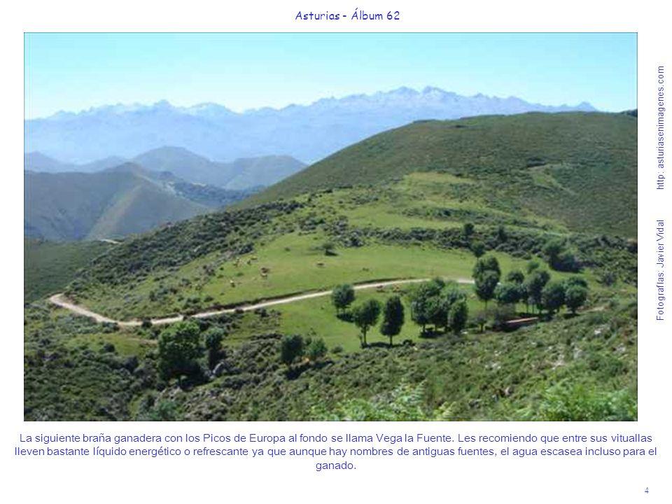 4 Asturias - Álbum 62 Fotografías: Javier Vidal http: asturiasenimagenes.com La siguiente braña ganadera con los Picos de Europa al fondo se llama Veg