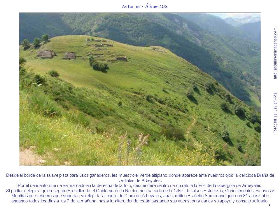 9 Asturias - Álbum 103 Fotografías: Javier Vidal http: asturiasenimagenes.com El día es impresionante mis amigos y esta foto de la Braña de Ordiales de Arbeyales, lo atestigua.