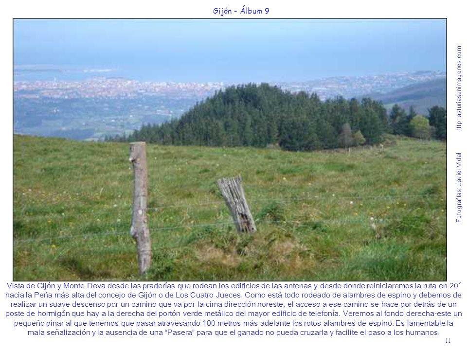 11 Gijón - Álbum 9 Fotografías: Javier Vidal http: asturiasenimagenes.com Vista de Gijón y Monte Deva desde las praderías que rodean los edificios de