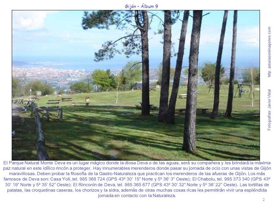 2 Gijón - Álbum 9 Fotografías: Javier Vidal http: asturiasenimagenes.com El Parque Natural Monte Deva es un lugar mágico donde la diosa Deva o de las