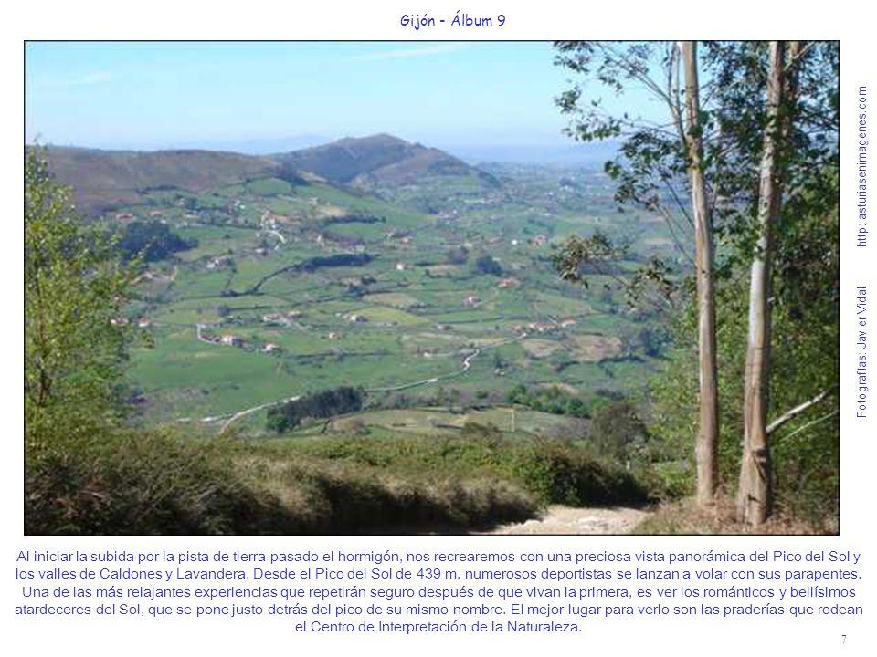 8 Gijón - Álbum 9 Fotografías: Javier Vidal http: asturiasenimagenes.com Voy a hacer otra pequeña parada, ya que la cuesta tiene unos primeros cien metros un poco pronunciados para hacer otra foto del valle de Rioseco de Caldones.