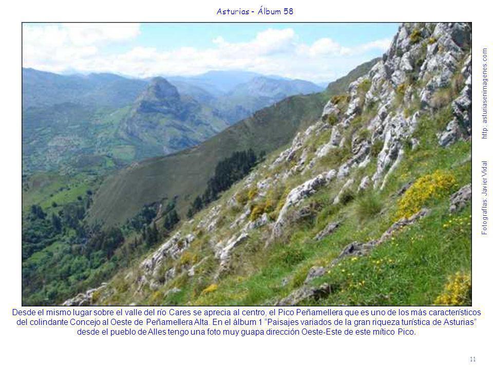 11 Asturias - Álbum 58 Fotografías: Javier Vidal http: asturiasenimagenes.com Desde el mismo lugar sobre el valle del río Cares se aprecia al centro,