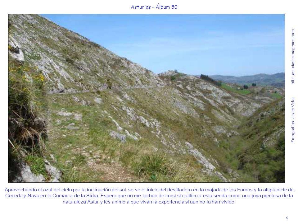 7 Asturias - Álbum 50 Fotografías: Javier Vidal http: asturiasenimagenes.com Seguimos llaneando y el desfiladero pierde altura, acercándonos poco a poco al río Pendón.