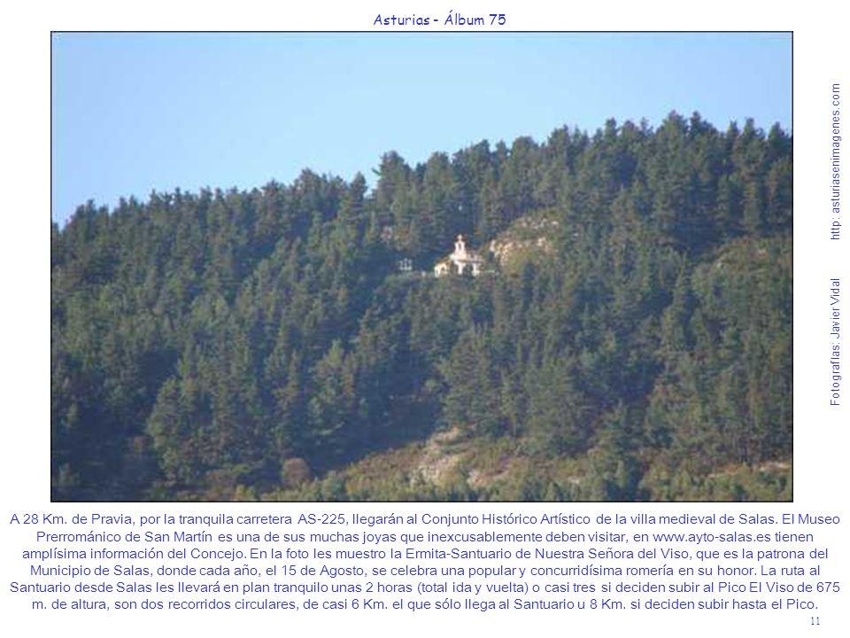 11 Asturias - Álbum 75 Fotografías: Javier Vidal http: asturiasenimagenes.com A 28 Km. de Pravia, por la tranquila carretera AS-225, llegarán al Conju