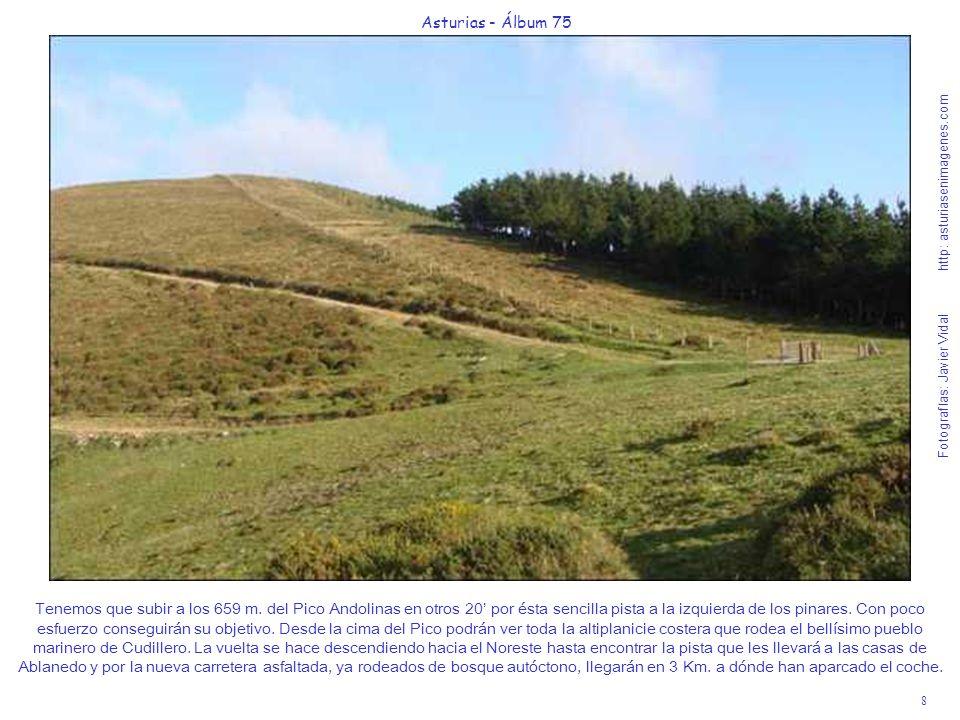 8 Asturias - Álbum 75 Fotografías: Javier Vidal http: asturiasenimagenes.com Tenemos que subir a los 659 m. del Pico Andolinas en otros 20 por ésta se