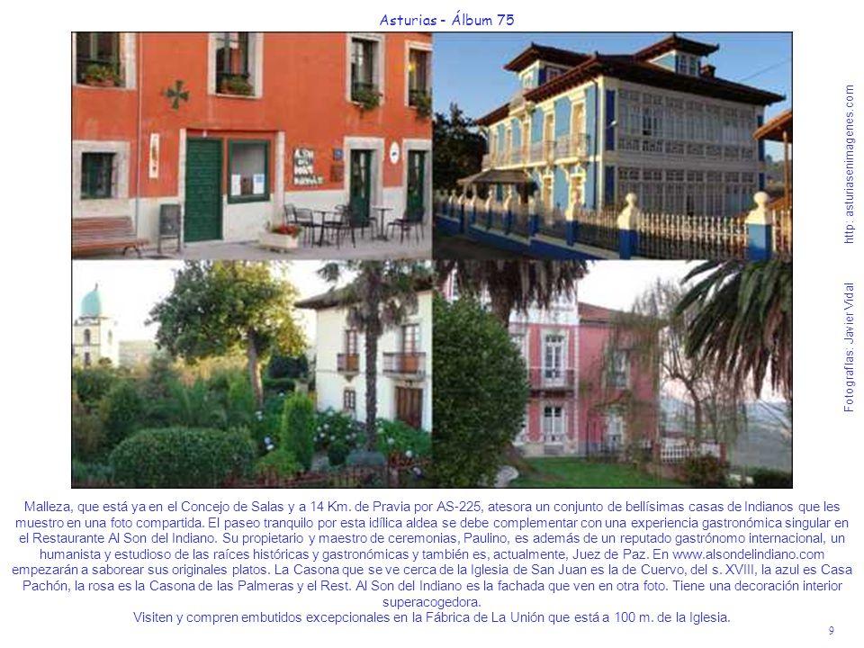 9 Asturias - Álbum 75 Fotografías: Javier Vidal http: asturiasenimagenes.com Malleza, que está ya en el Concejo de Salas y a 14 Km. de Pravia por AS-2