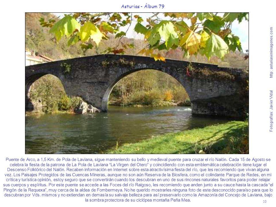 10 Asturias - Álbum 79 Fotografías: Javier Vidal http: asturiasenimagenes.com Puente de Arco, a 1,5 Km. de Pola de Laviana, sigue manteniendo su bello