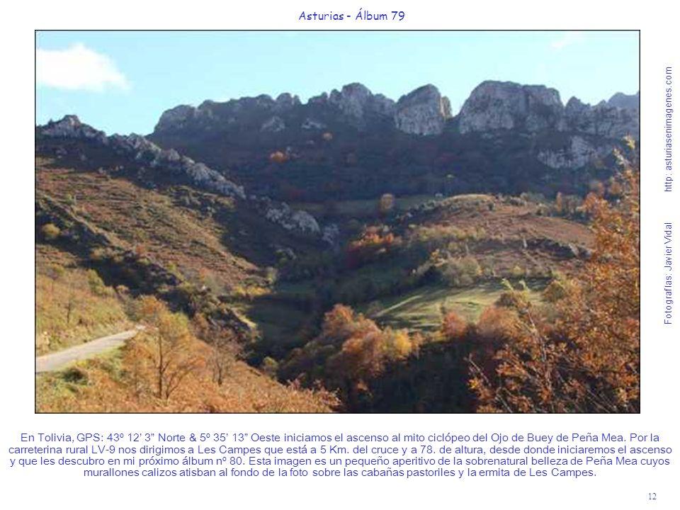 12 Asturias - Álbum 79 Fotografías: Javier Vidal http: asturiasenimagenes.com En Tolivia, GPS: 43º 12 3 Norte & 5º 35 13 Oeste iniciamos el ascenso al
