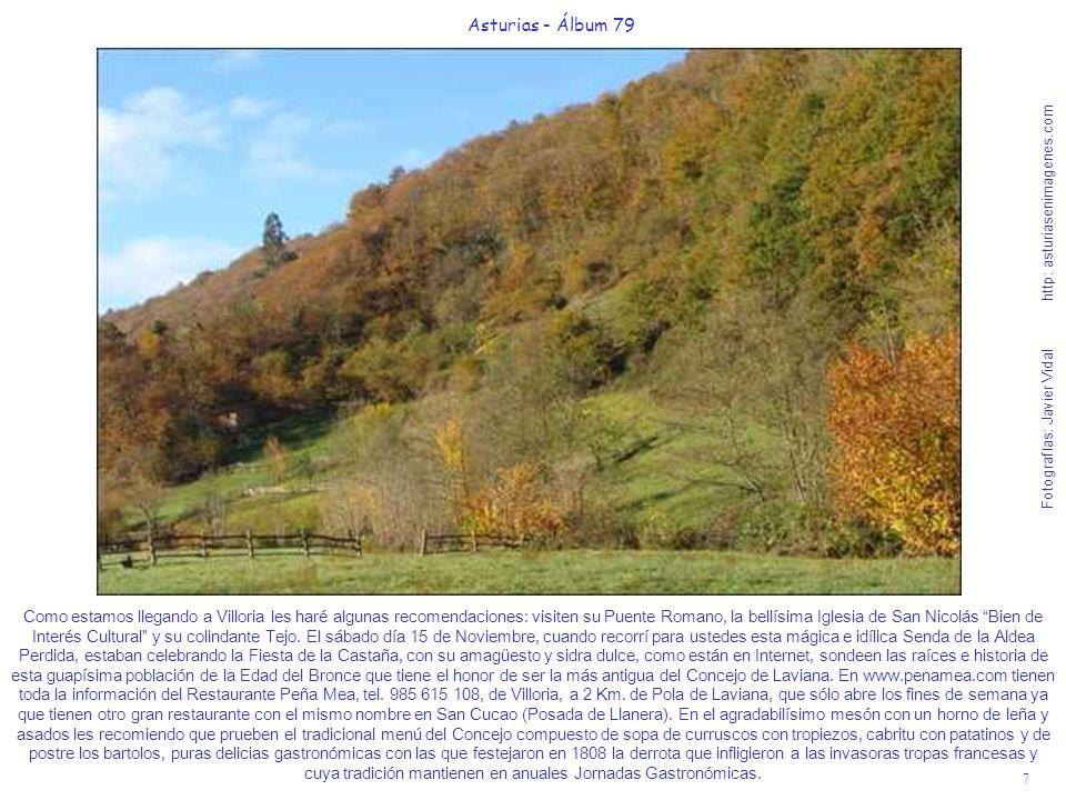 7 Asturias - Álbum 79 Fotografías: Javier Vidal http: asturiasenimagenes.com Como estamos llegando a Villoria les haré algunas recomendaciones: visite