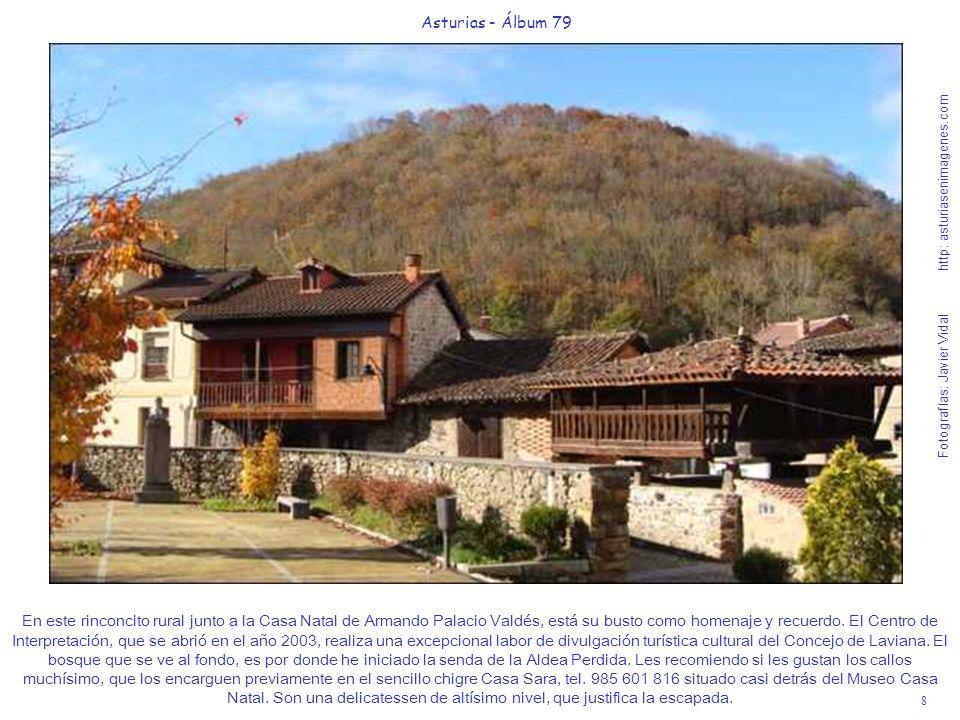 8 Asturias - Álbum 79 Fotografías: Javier Vidal http: asturiasenimagenes.com En este rinconcito rural junto a la Casa Natal de Armando Palacio Valdés,