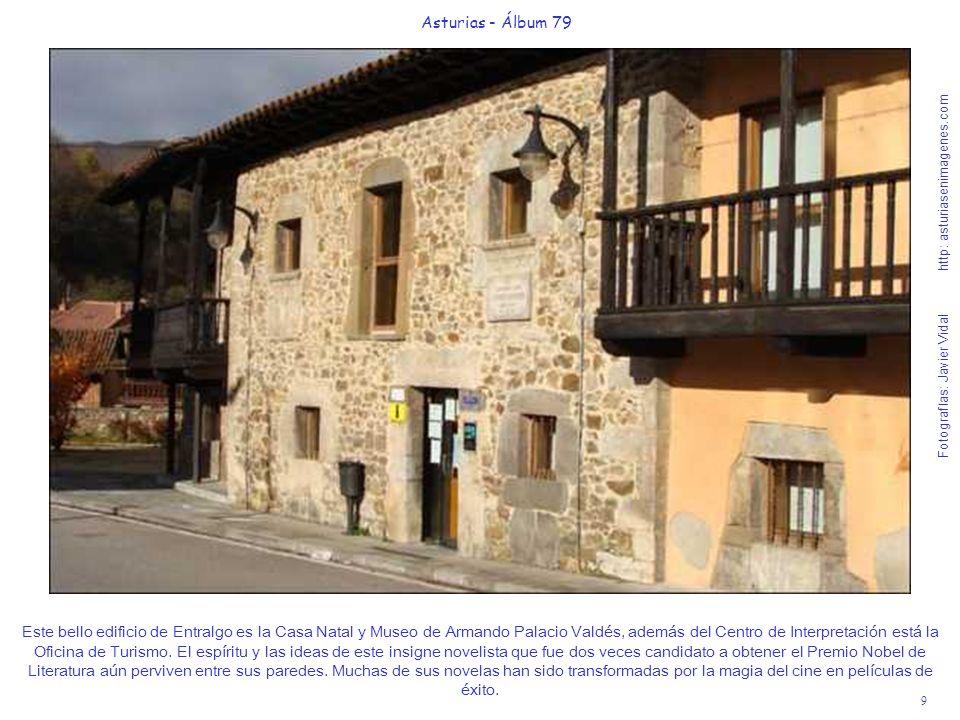 9 Asturias - Álbum 79 Fotografías: Javier Vidal http: asturiasenimagenes.com Este bello edificio de Entralgo es la Casa Natal y Museo de Armando Palac