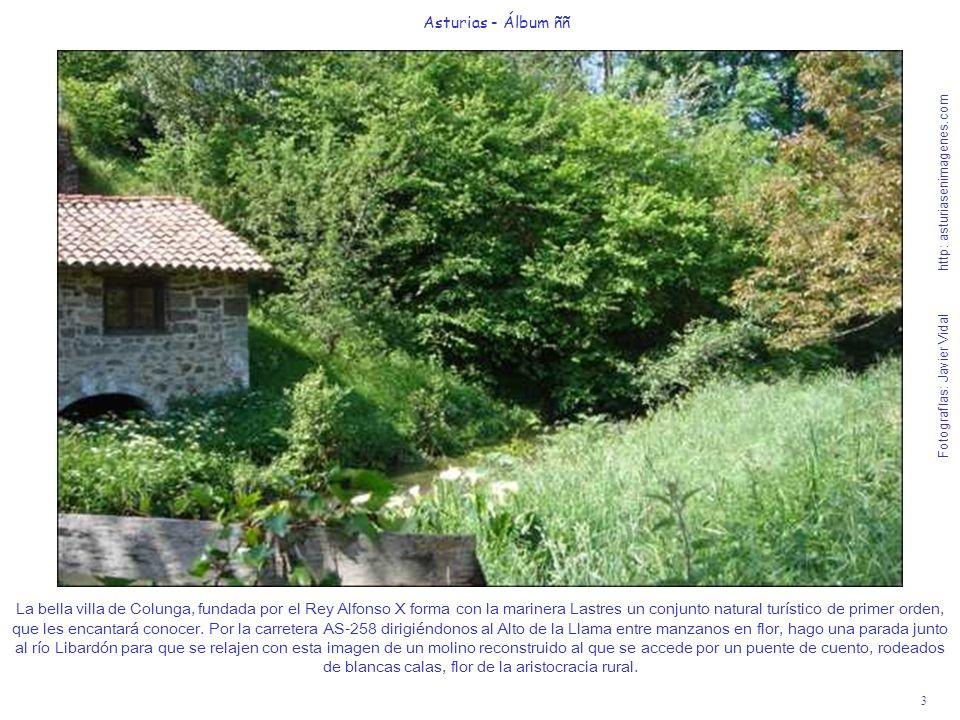 3 Asturias - Álbum ññ Fotografías: Javier Vidal http: asturiasenimagenes.com La bella villa de Colunga, fundada por el Rey Alfonso X forma con la mari