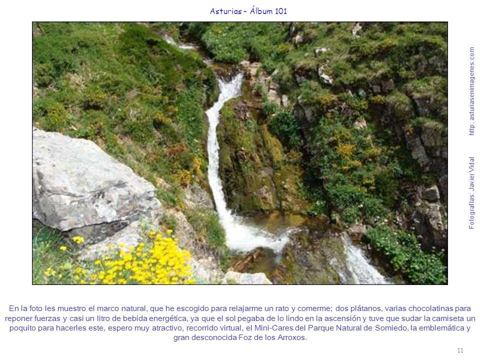 11 Asturias - Álbum 101 Fotografías: Javier Vidal http: asturiasenimagenes.com En la foto les muestro el marco natural, que he escogido para relajarme