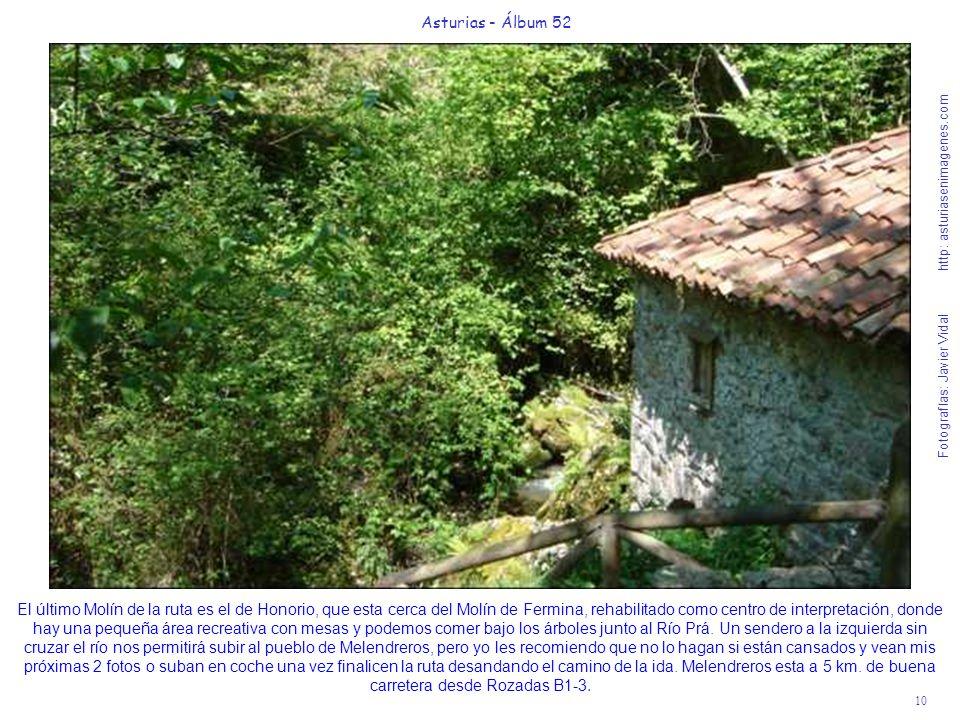 10 Asturias - Álbum 52 Fotografías: Javier Vidal http: asturiasenimagenes.com El último Molín de la ruta es el de Honorio, que esta cerca del Molín de