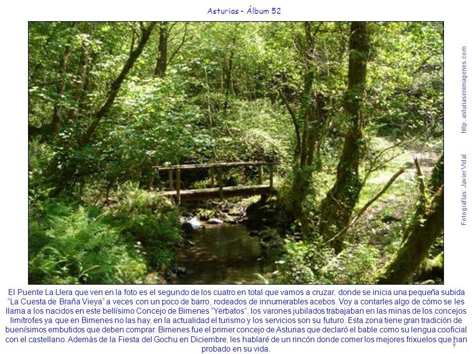 9 Asturias - Álbum 52 Fotografías: Javier Vidal http: asturiasenimagenes.com El Puente La Llera que ven en la foto es el segundo de los cuatro en tota