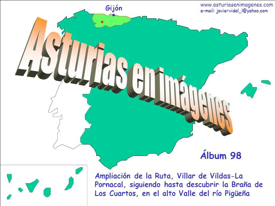 1 Asturias - Álbum 98 Gijón Ampliación de la Ruta, Villar de Vildas-La Pornacal, siguiendo hasta descubrir la Braña de Los Cuartos, en el alto Valle d