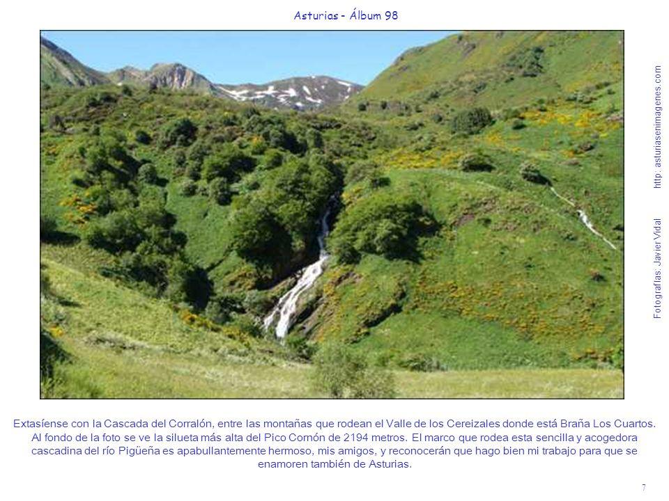 7 Asturias - Álbum 98 Fotografías: Javier Vidal http: asturiasenimagenes.com Extasíense con la Cascada del Corralón, entre las montañas que rodean el