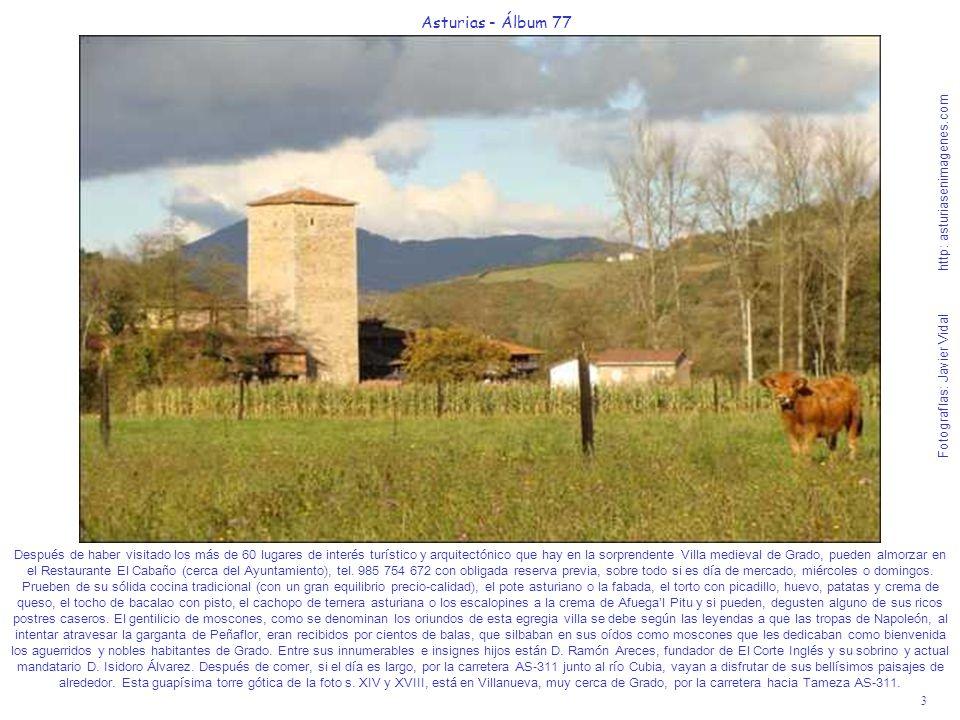3 Asturias - Álbum 77 Fotografías: Javier Vidal http: asturiasenimagenes.com Después de haber visitado los más de 60 lugares de interés turístico y ar