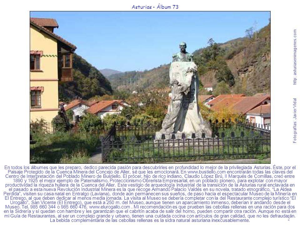 2 Asturias - Álbum 73 Fotografías: Javier Vidal http: asturiasenimagenes.com En todos los álbumes que les preparo, dedico parecida pasión para descubr