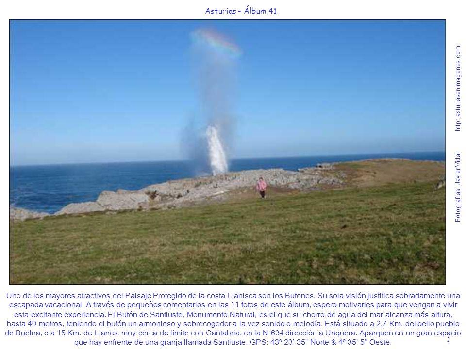2 Asturias - Álbum 41 Fotografías: Javier Vidal http: asturiasenimagenes.com Uno de los mayores atractivos del Paisaje Protegido de la costa Llanisca