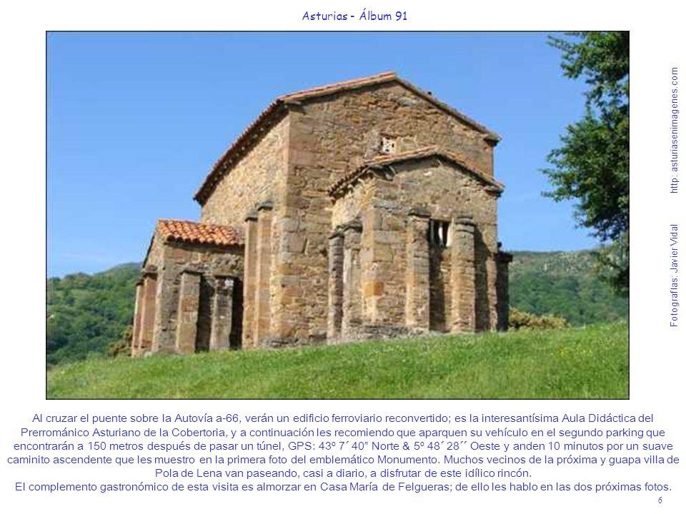 6 Asturias - Álbum 91 Fotografías: Javier Vidal http: asturiasenimagenes.com Al cruzar el puente sobre la Autovía a-66, verán un edificio ferroviario