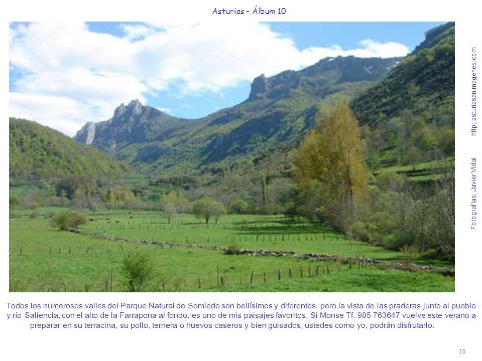 10 Asturias - Álbum 10 Fotografías: Javier Vidal http: asturiasenimagenes.com Todos los numerosos valles del Parque Natural de Somiedo son bellísimos