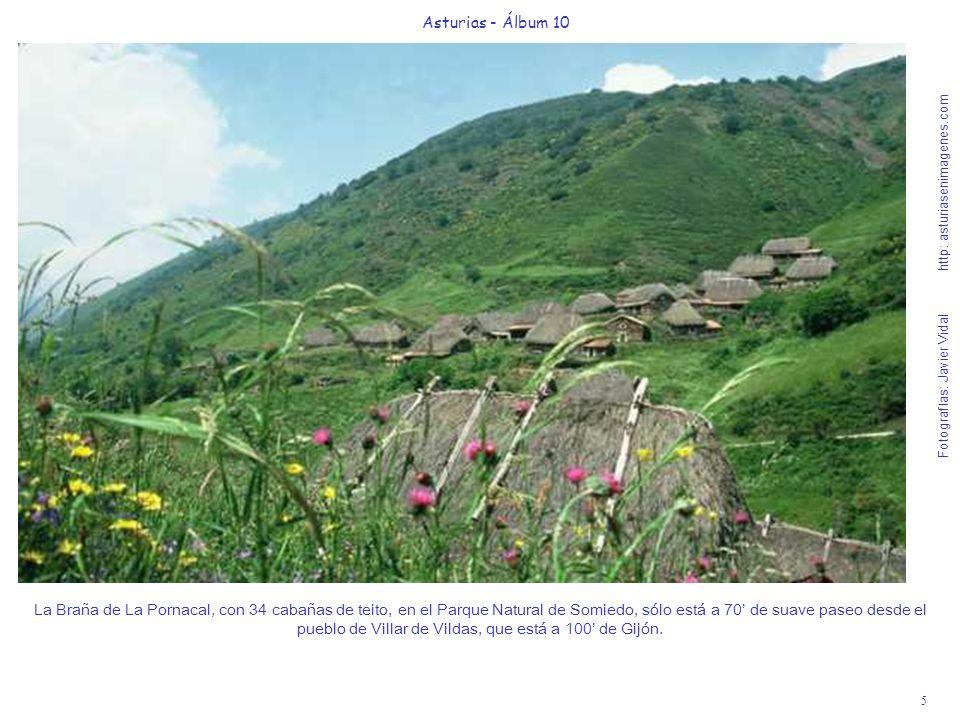 5 Asturias - Álbum 10 Fotografías: Javier Vidal http: asturiasenimagenes.com La Braña de La Pornacal, con 34 cabañas de teito, en el Parque Natural de