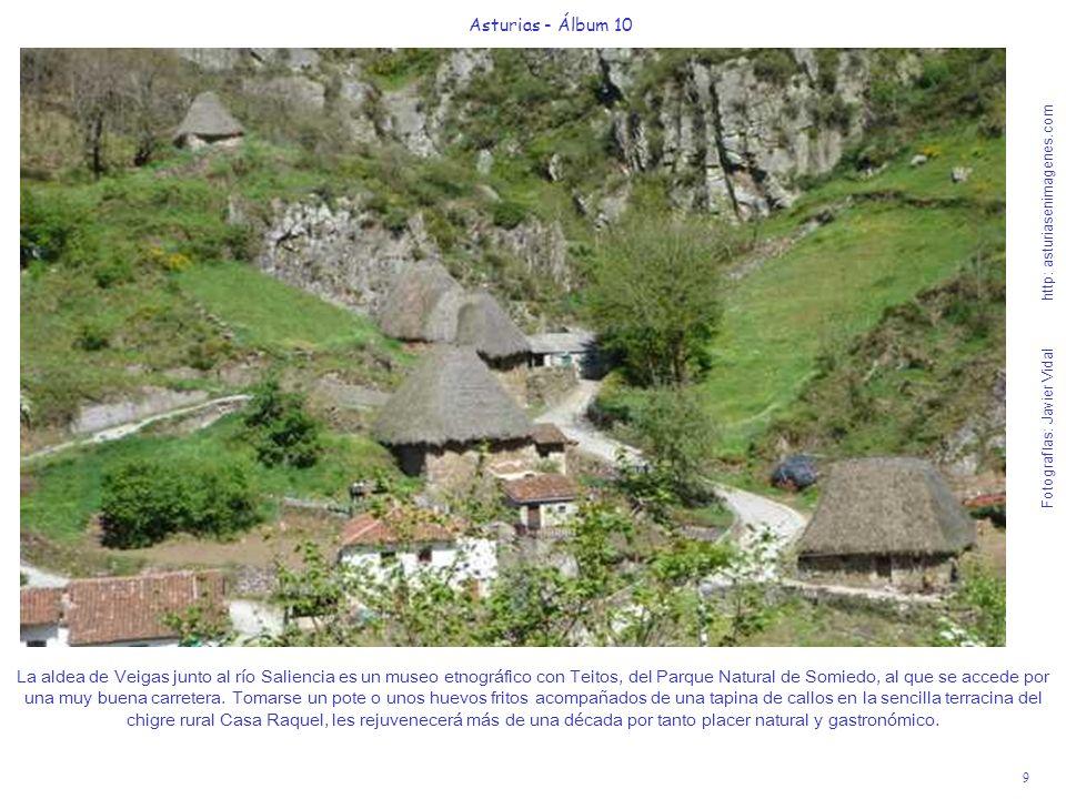 9 Asturias - Álbum 10 Fotografías: Javier Vidal http: asturiasenimagenes.com La aldea de Veigas junto al río Saliencia es un museo etnográfico con Tei