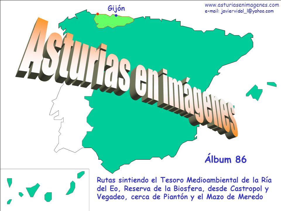 1 Asturias - Álbum 86 Gijón Rutas sintiendo el Tesoro Medioambiental de la Ría del Eo, Reserva de la Biosfera, desde Castropol y Vegadeo, cerca de Pia