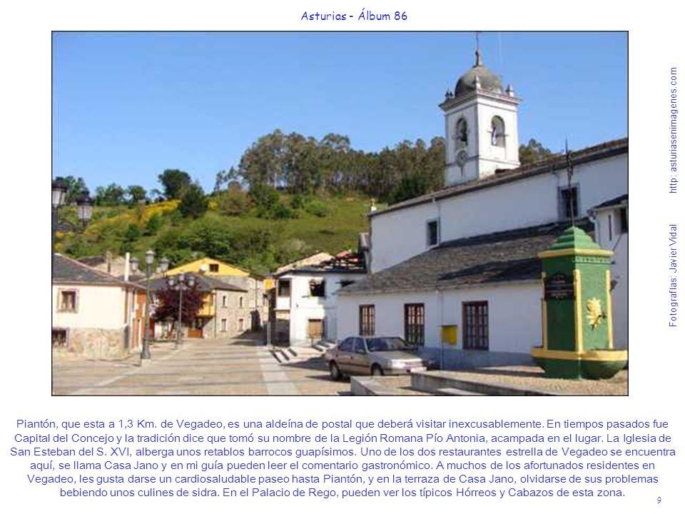 9 Asturias - Álbum 86 Fotografías: Javier Vidal http: asturiasenimagenes.com Piantón, que esta a 1,3 Km. de Vegadeo, es una aldeína de postal que debe