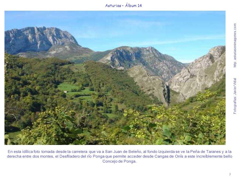 3 Asturias - Álbum 14 Fotografías: Javier Vidal http: asturiasenimagenes.com En esta idílica foto tomada desde la carretera que va a San Juan de Beleñ