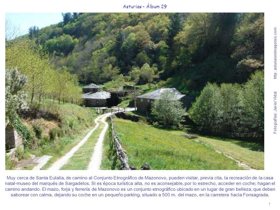 7 Asturias - Álbum 29 Fotografías: Javier Vidal http: asturiasenimagenes.com Muy cerca de Santa Eulalia, de camino al Conjunto Etnográfico de Mazonovo