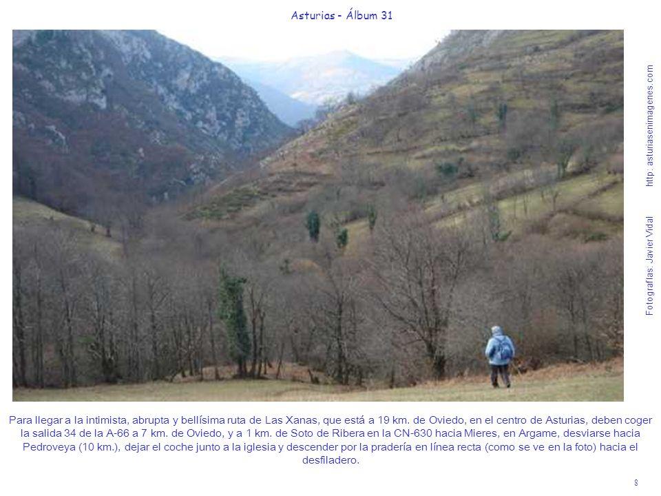 8 Asturias - Álbum 31 Fotografías: Javier Vidal http: asturiasenimagenes.com Para llegar a la intimista, abrupta y bellísima ruta de Las Xanas, que está a 19 km.