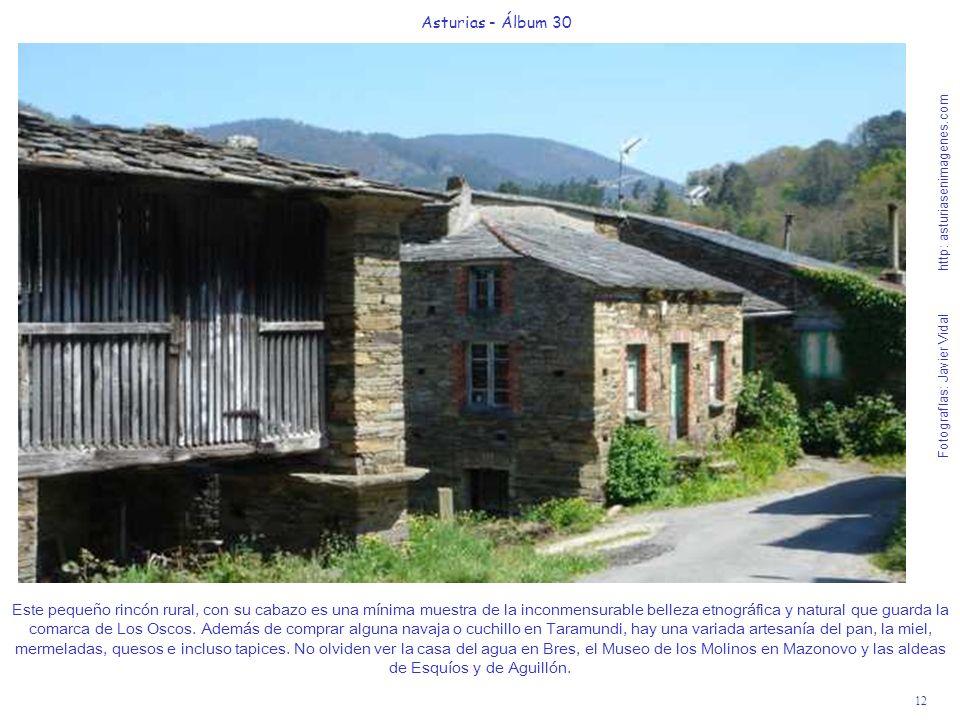 12 Asturias - Álbum 30 Fotografías: Javier Vidal http: asturiasenimagenes.com Este pequeño rincón rural, con su cabazo es una mínima muestra de la inc