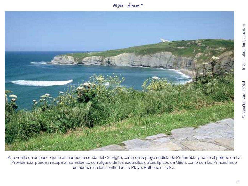 10 Gijón - Álbum 2 Fotografías: Javier Vidal http: asturiasenimagenes.com A la vuelta de un paseo junto al mar por la senda del Cervigón, cerca de la