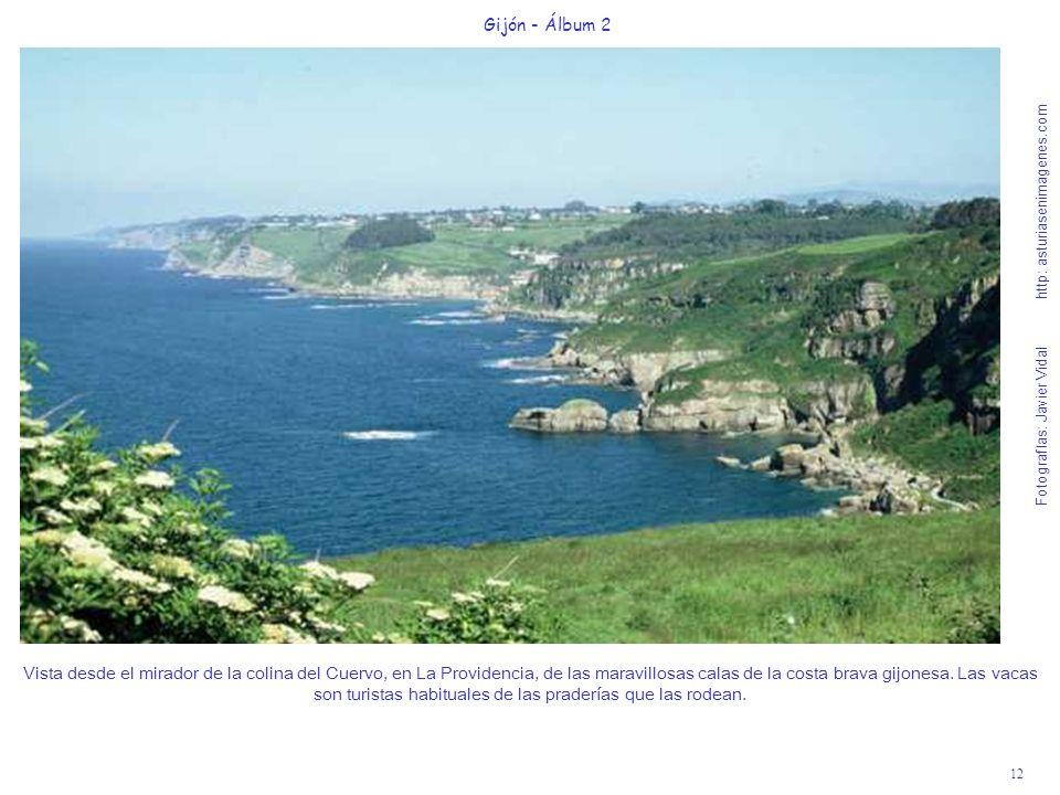 12 Gijón - Álbum 2 Fotografías: Javier Vidal http: asturiasenimagenes.com Vista desde el mirador de la colina del Cuervo, en La Providencia, de las ma