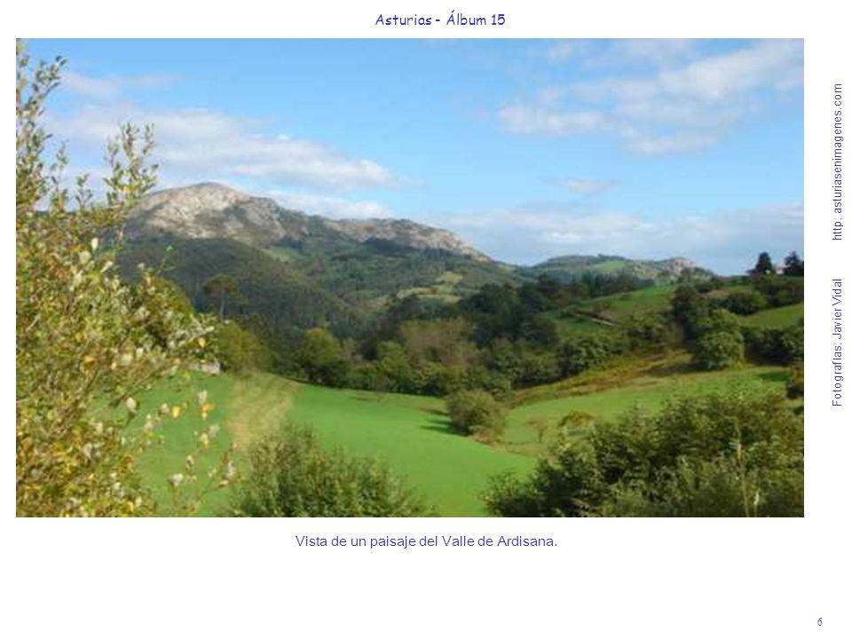 6 Asturias - Álbum 15 Fotografías: Javier Vidal http: asturiasenimagenes.com Vista de un paisaje del Valle de Ardisana.