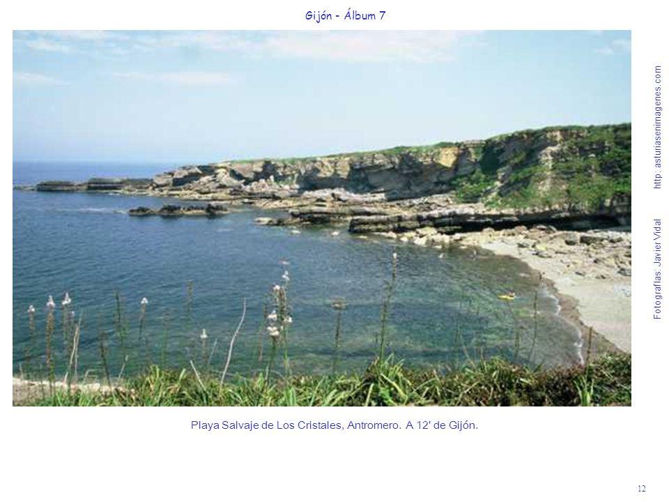 12 Gijón - Álbum 7 Fotografías: Javier Vidal http: asturiasenimagenes.com Playa Salvaje de Los Cristales, Antromero. A 12' de Gijón.