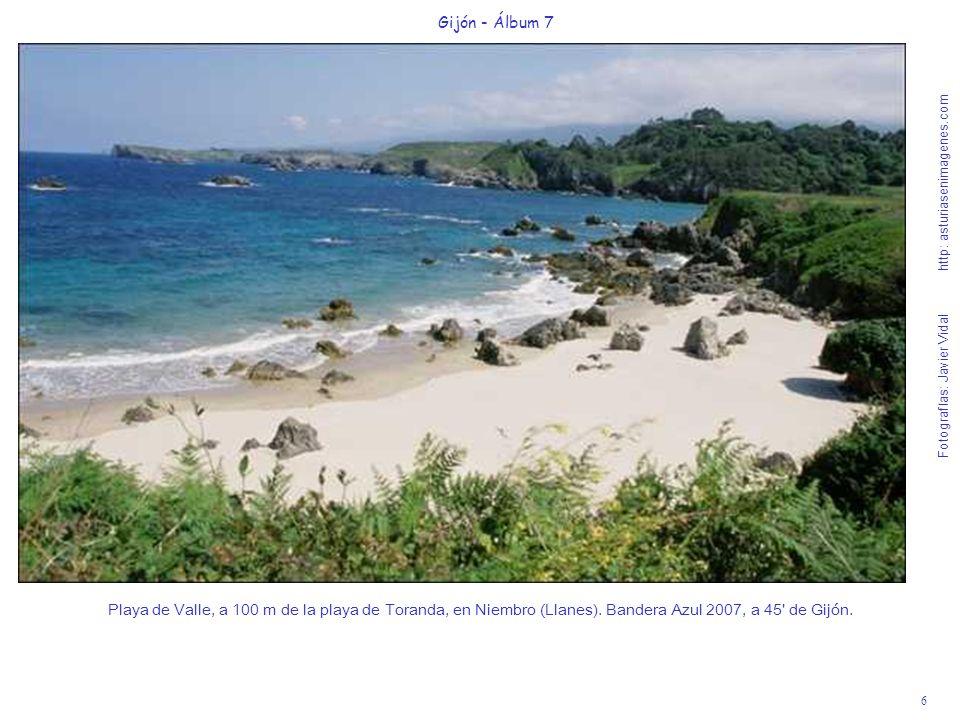6 Gijón - Álbum 7 Fotografías: Javier Vidal http: asturiasenimagenes.com Playa de Valle, a 100 m de la playa de Toranda, en Niembro (Llanes). Bandera