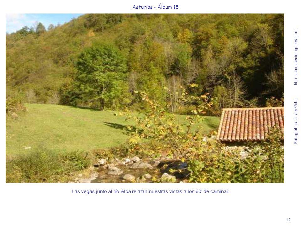 12 Asturias - Álbum 18 Fotografías: Javier Vidal http: asturiasenimagenes.com Las vegas junto al río Alba relatan nuestras vistas a los 60' de caminar