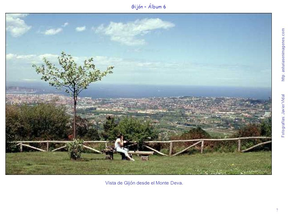 7 Gijón - Álbum 6 Fotografías: Javier Vidal http: asturiasenimagenes.com Vista de Gijón desde el Monte Deva.