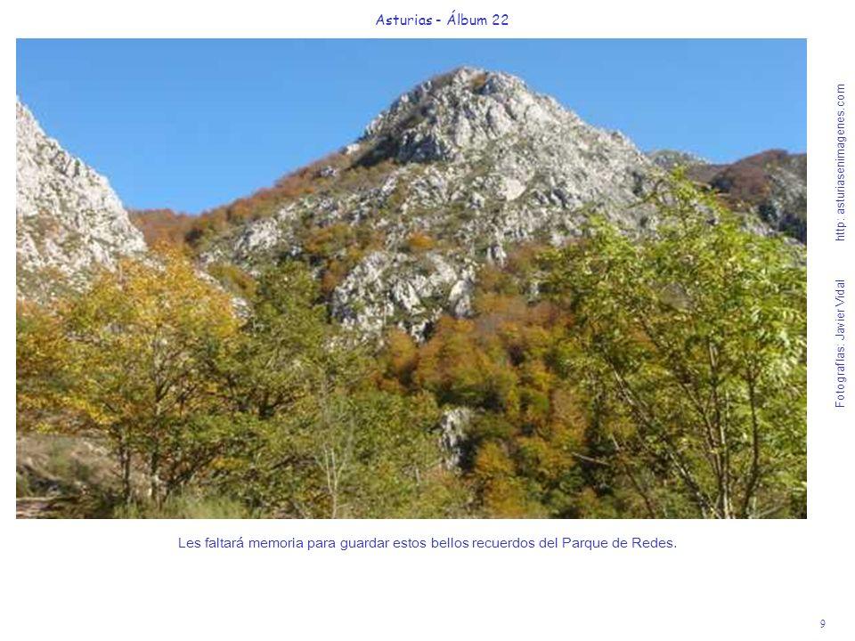 10 Asturias - Álbum 22 Fotografías: Javier Vidal http: asturiasenimagenes.com Hemos llegado al punto G del placer natural de Redes, en la Majada de Vega Baxu.