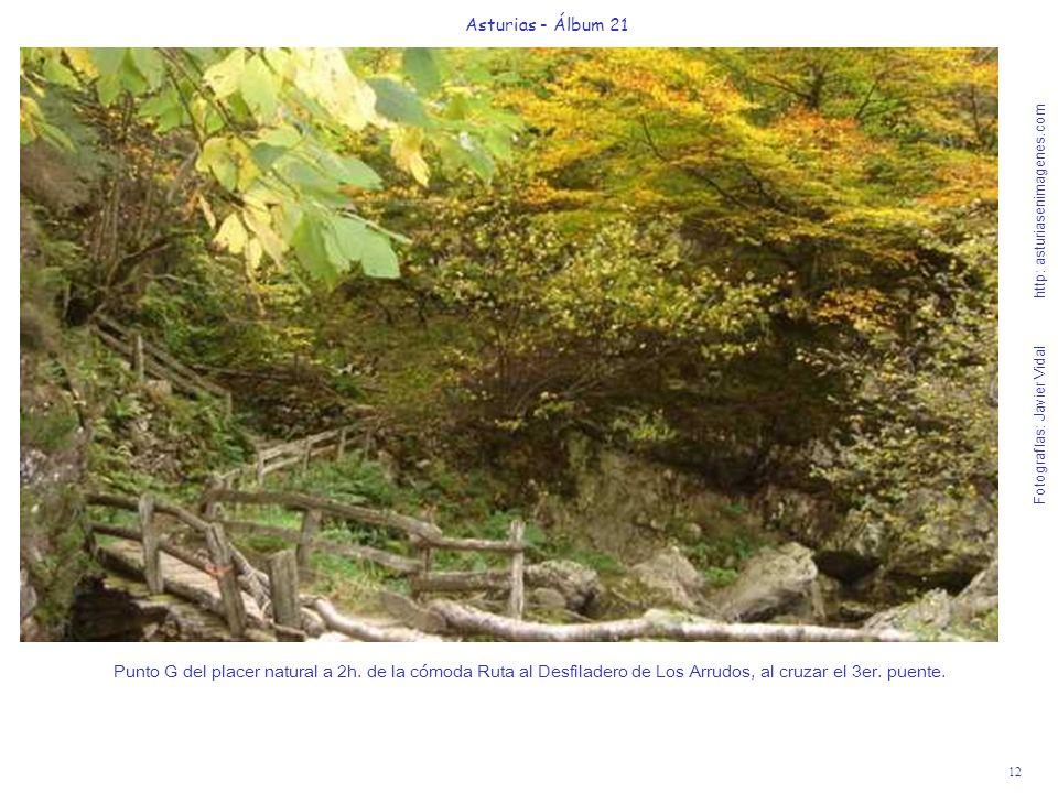 12 Asturias - Álbum 21 Fotografías: Javier Vidal http: asturiasenimagenes.com Punto G del placer natural a 2h. de la cómoda Ruta al Desfiladero de Los