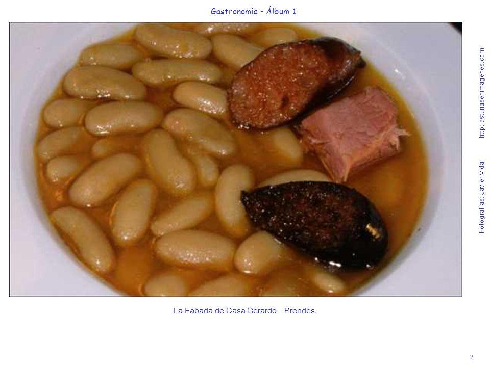 3 Gastronomía - Álbum 1 Fotografías: Javier Vidal http: asturiasenimagenes.com Crema de andaricas (nécoras) con pedacitos de Pixín (rape) y Almejas - Restaurante La Galana.